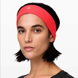 Lululemon Athletica Headband NWT Red FlyAway Tamer